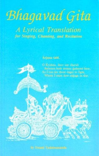 9781882325412: Bhagavad Gita - A Lyrical Translation for Singing, Chanting, and Recitation