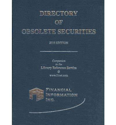 Directory of Obsolete Securities 2010 (Hardback)