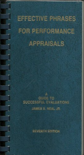 9781882423071: Effective Phrases for Performance Appraisals: A Guide to Successful Evaluations