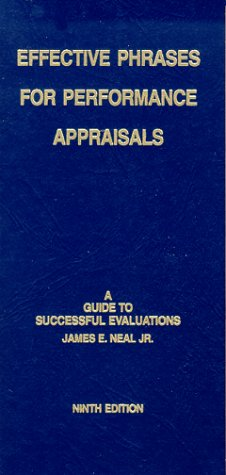 9781882423095: Effective Phrases for Performance Appraisals: A Guide to Successful Evaluations
