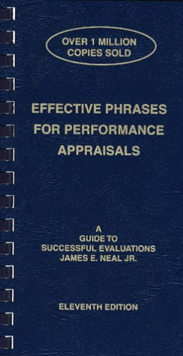 9781882423118: Effective Phrases for Performance Appraisals: A Guide to Successful Evaluations