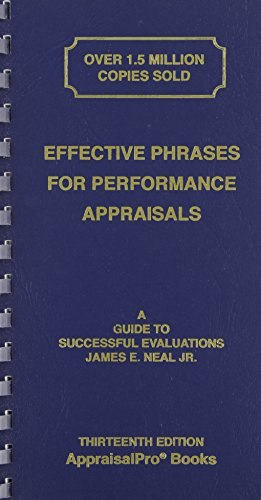 9781882423132: Effective Phrases for Performance Appraisals: A Guide to Successful Evaluations (Neal, Effective Phrases for Peformance Appraisals)