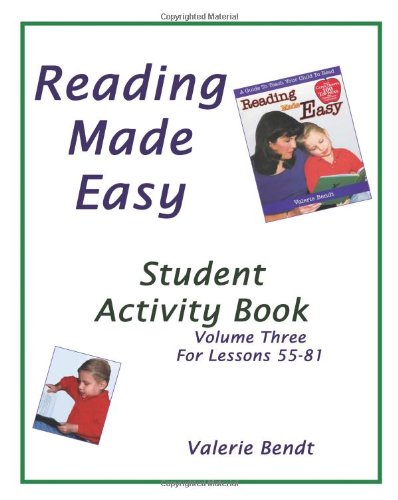 9781882514731: Reading Made Easy Student Activity Book Three: A student workbook for Reading Made Easy