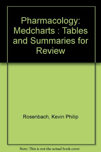 9781882531004: Pharmacology: Medcharts : Tables and Summaries for Review