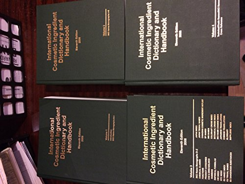 9781882621361: International Cosmetic Ingredient Dictionary and Handbook, 11th Edition, 4 Volume Set