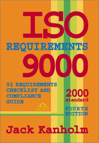 9781882711253: ISO 9000 Requirements, 92 Requirements Checklist and Compliance Guide