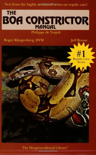 9781882770410: Boa Constrictor Manual (Herpetocultural Library)