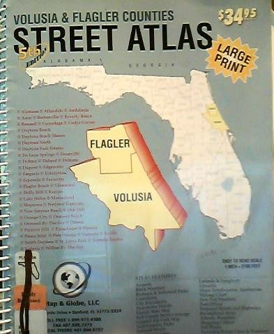 9781882829095: Volusia and Flagler Counties Street Atlas