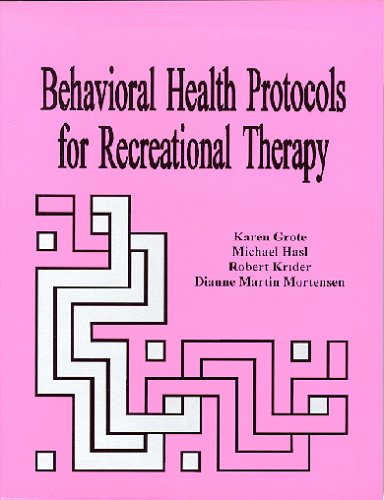 9781882883172: Behavioral Health Protocols for Recreational Therapy