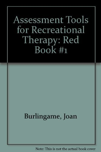 9781882883318: Assessment Tools for Recreational Therapy: Red Book #1