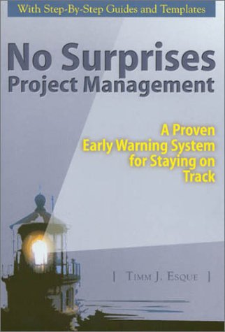 9781882939053: No Surprises Project Management (A Proven Early Warning System for Staying on Track)