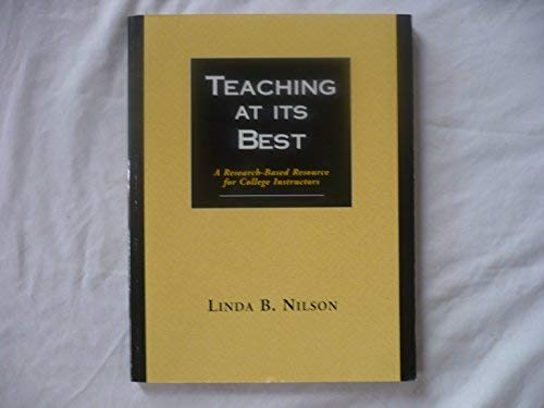 9781882982202: Teaching at It's Best: A Research-Based Resource for College Instructors