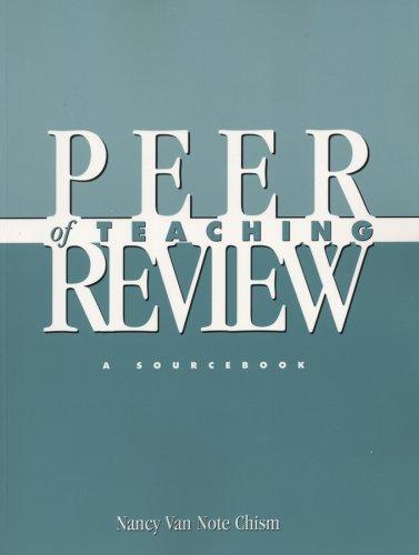 9781882982257: Peer Review of Teaching: A Sourcebook (JB - Anker)