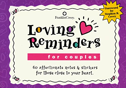 9781883219925: Loving Reminders for Couples: 60 Affectionate Notes & Stickers for Those Close to Your Heart