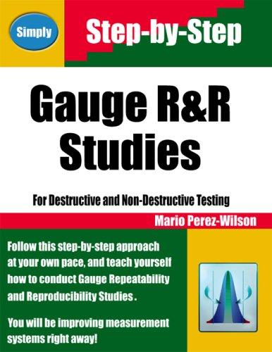 Gauge R&R studies: For destructive and non-destructive testing: Mario Perez-Wilson