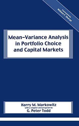 9781883249755: Mean-Variance Analysis in Portfolio Choice and Capital Markets (Frank J. Fabozzi)