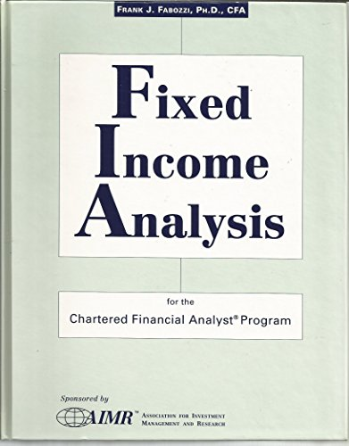 9781883249830: Fixed Income Analysis for the Chartered Financial Analyst Program