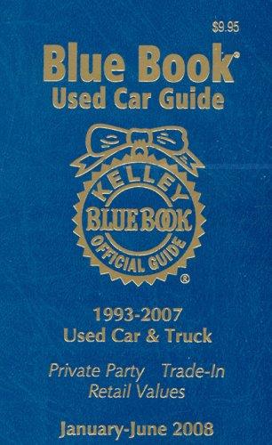 9781883392697: 16-1: Kelley Blue Book Used Car Guide--Jan-June 2008 (Kelley Blue Book Used Car Guide: Consumer Edition)