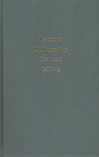 9781883631086: Essays in Bibliography, Text, and Editing