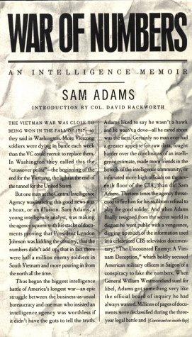 War of Numbers -- An Intelligence Memoir: Adams, Sam