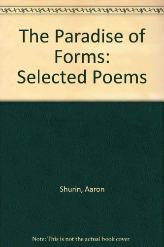 9781883689827: The Paradise of Forms: Selected Poems