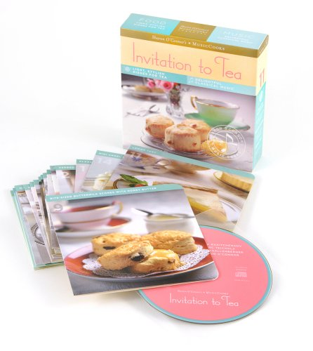 9781883914615: Invitation to Tea (MusicCooks: Recipe Cards/Music CD), Light, Stylish Dishes For Tea, Delightful Classical Music (Sharon O'Connor's Musiccooks)