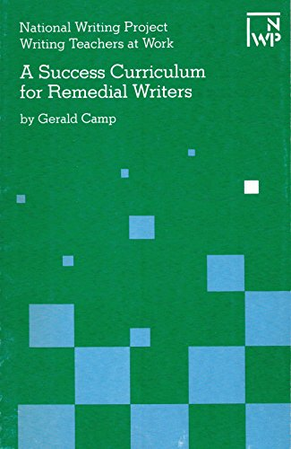 9781883920005: A Success Curriculum for Remedial Writers (Writing Teachers at Work Series)
