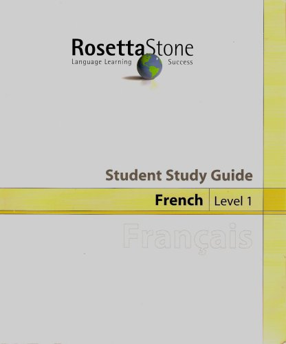 9781883972981: The Rosetta Stone Student Study Guide: French, Level 1