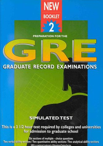 Preparation for the GRE: Booklet 2 Simulated Test: Waintrub, Mauricio