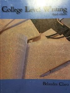 9781884155819: College Level Writing Third Edition