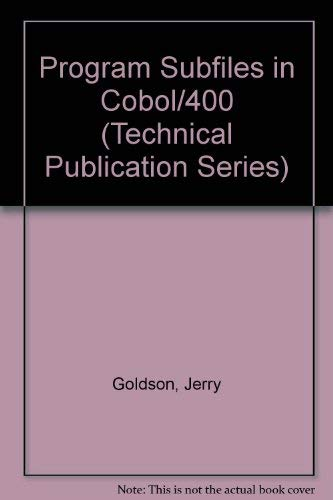 9781884322129: Programming Subfiles in Cobol-Four Hundred (Technical Publication Series)
