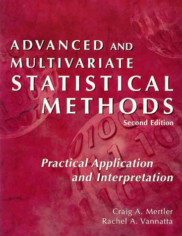 9781884585418: Advanced and Multivariate Statistical Methods
