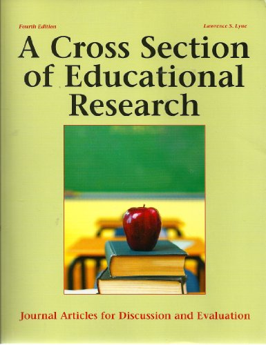 9781884585807: A Cross Section of Educational Research: Journal Articles for Discussion and Evaluation