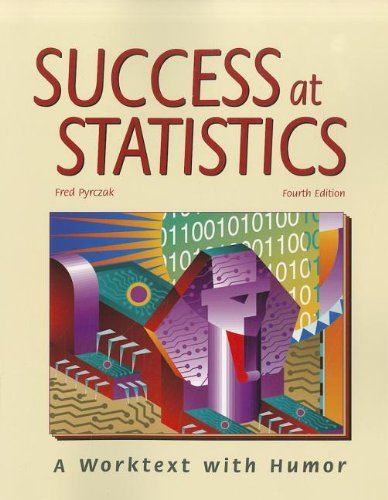 9781884585814: Success at Statistics: A Worktext with Humor
