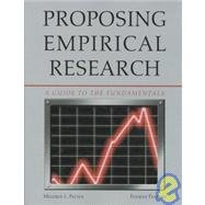Proposing Empirical Research: A Guide to the: Patten, Mildred L.