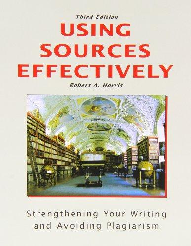 Using Sources Effectively: Strengthening: Robert Harris