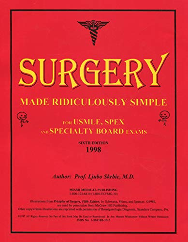 9781884588396: Surgery made ridiculously simple: For USMLE, SPEX and specialty board exams