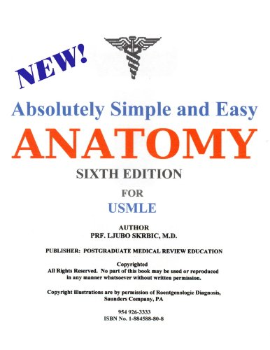 9781884588808: Anatomy for USMLE exam (Absolutely simple and easy, Volume 1)