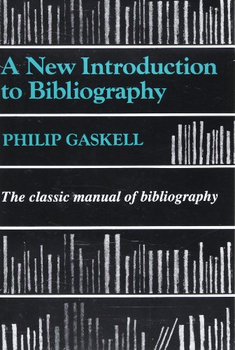 9781884718137: A New Introduction to Bibliography