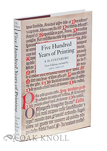 9781884718199: Five Hundred Years of Printing