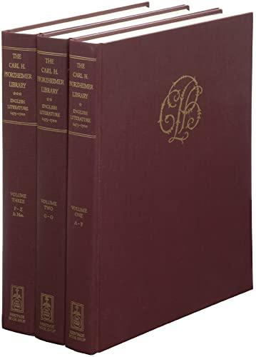 9781884718335: The Carl H. Pforzheimer Library, English Literature, 1475-1700