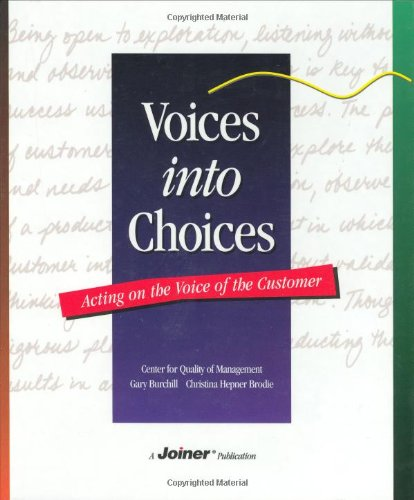 Voices into Choices : Acting on the: Christina H. Brodie;