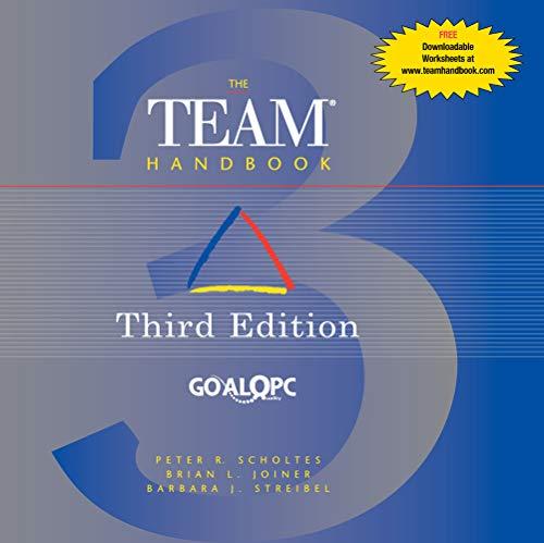 The Team Handbook Third Edition: Peter R Scholtes,