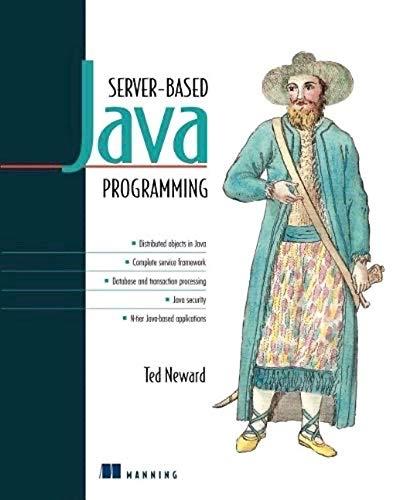 9781884777714: Server-Based Java Programming