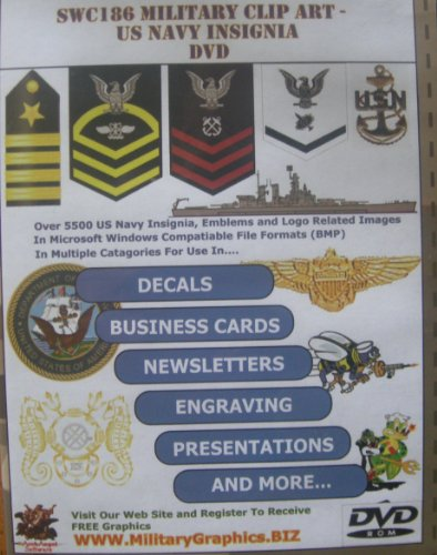 9781884778698: SWC186 Military Clip Art U.S. Navy Insignia DVD