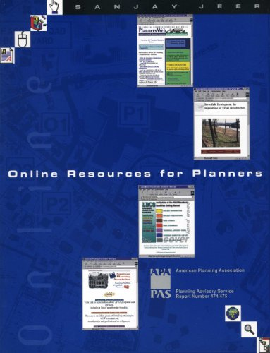 Online Resources For Planners 9781884829161 A bounty of information and function is available online, but the Internet is vast and complicated―unless you know how and where to look. Whether you're searching for simple text files with illustrative maps and graphics or interactive zoning and plan maps connected to sophisticated databases, this report shows you the way to find exactly what you need.