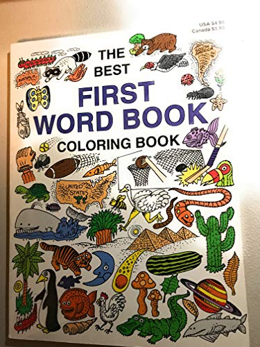 The Best First Word Book Coloring Book (9781884907296) by Arthur Friedman