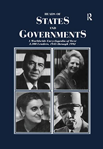 9781884964442: Heads of States and Governments Since 1945