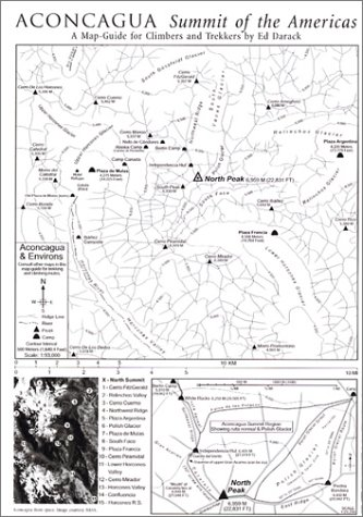 9781884980824: Aconcagua, Map-Guide