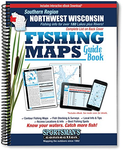 Northwest Wisconsin Fishing Map Guide, Southern Region (Fishing Maps from Sportsman's ...